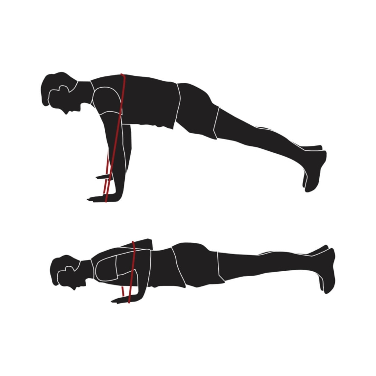 Push Up with Resistant Band